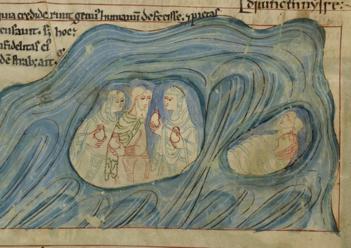 Rounded globe sodom in the anglo saxon imagination the british library board london british library cotton claudius biv 33v lower register lot is again plied with alcohol by his daughters and then he fandeluxe Images